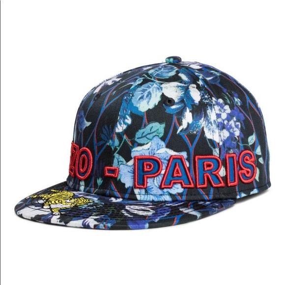 ffde08440a48c BNWT ❣ Kenzo Paris x HM Jungle Cap in Blue Floral